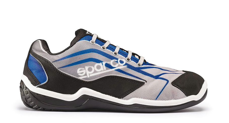 Sparco-Touring-grey-black-or-black-red-S1P-breathable-safety-trainer-shoe miniatuur 7